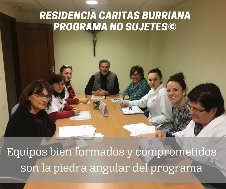Residencia de Cáritas Burriana y #NoSujetes